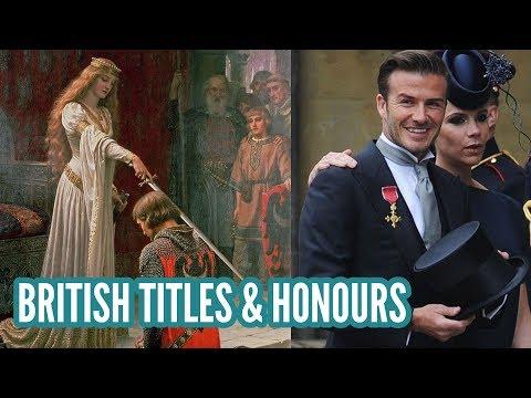 British Titles & Honours