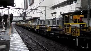 2012.05.15 レール輸送列車高崎駅発車 A rail transport train departing at Takasaki Sta.