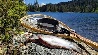 catch cook and camp ep 5 fishing under a volcano two night solo adventure in siskiyou