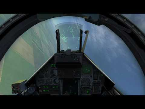 DCS M-2000C by RAZBAM: AG Guns and rockets gunsight test.