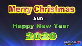 Merry Christmas Happy New Year 2020 Greetings Animation Free Status