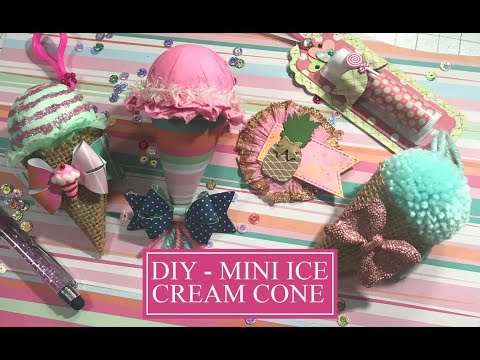 DIY Mini Burlap Ice Cream Cone -  Mini Paper Ice Cream Cone - Snail Mail Ideas