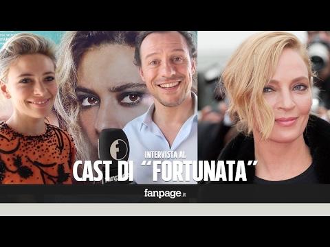 """""""Uma Thurman ha riso vedendo il film"""": le reazioni di Sergio Castellitto e del cast di 'Fortunata'"""