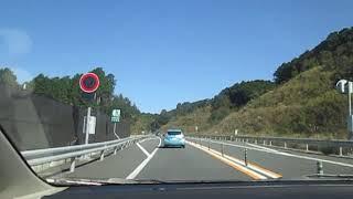 四万十町から高知市に行く自動車道からの景色