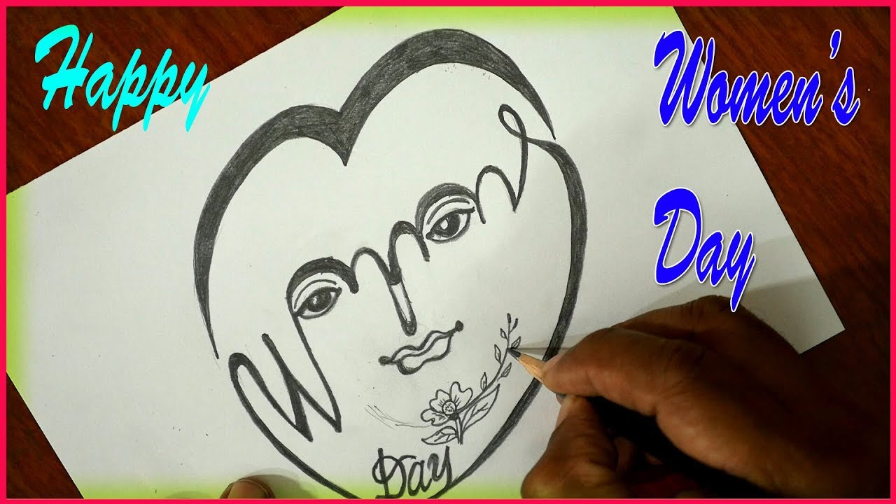 Happy womens day drawing international womens day pencil drawing s nagender