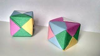 як зробити кубик з картону своїми руками схема