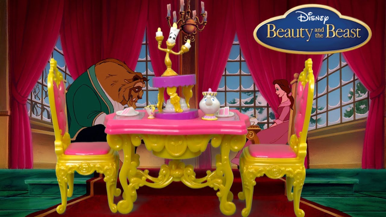 Disney princess belle 39 s be our guest dining set from for 3 dining rooms at be our guest