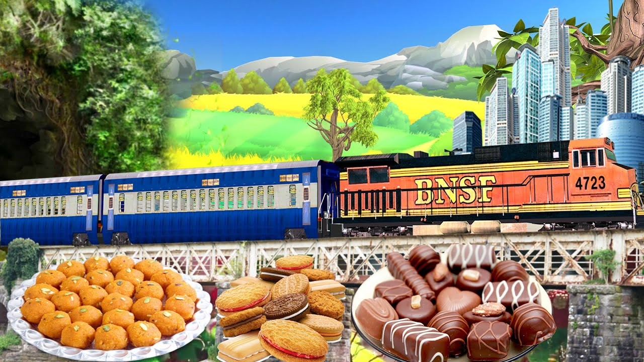 छोटा ट्रेन साहसिक | Mini Train Food Adventure Comedy Video | Hindi Kahaniya