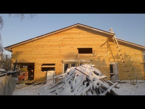 Реконструкция дома, 6х9 дом под усадку