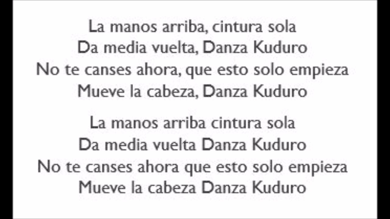 Don Omar-Danza Kuduro Lyrics - YouTube