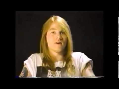 Axl Rose 1988 MTV Interview on One in a Million