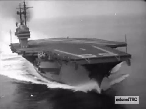 USS Forrestal (CV-59) underway during sea trials - 1955