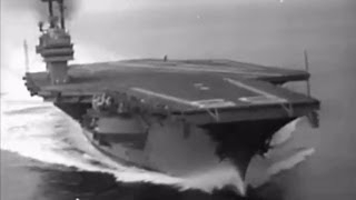 USS Forrestal (CV-59) underway during sea trials - 1955