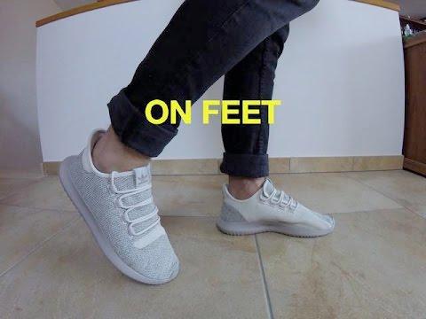 Adidas Tubular Shadow Light Brown On Feet