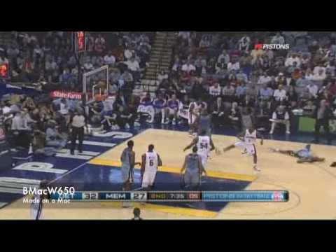Pistons vs Grizzlies 2009-10-28