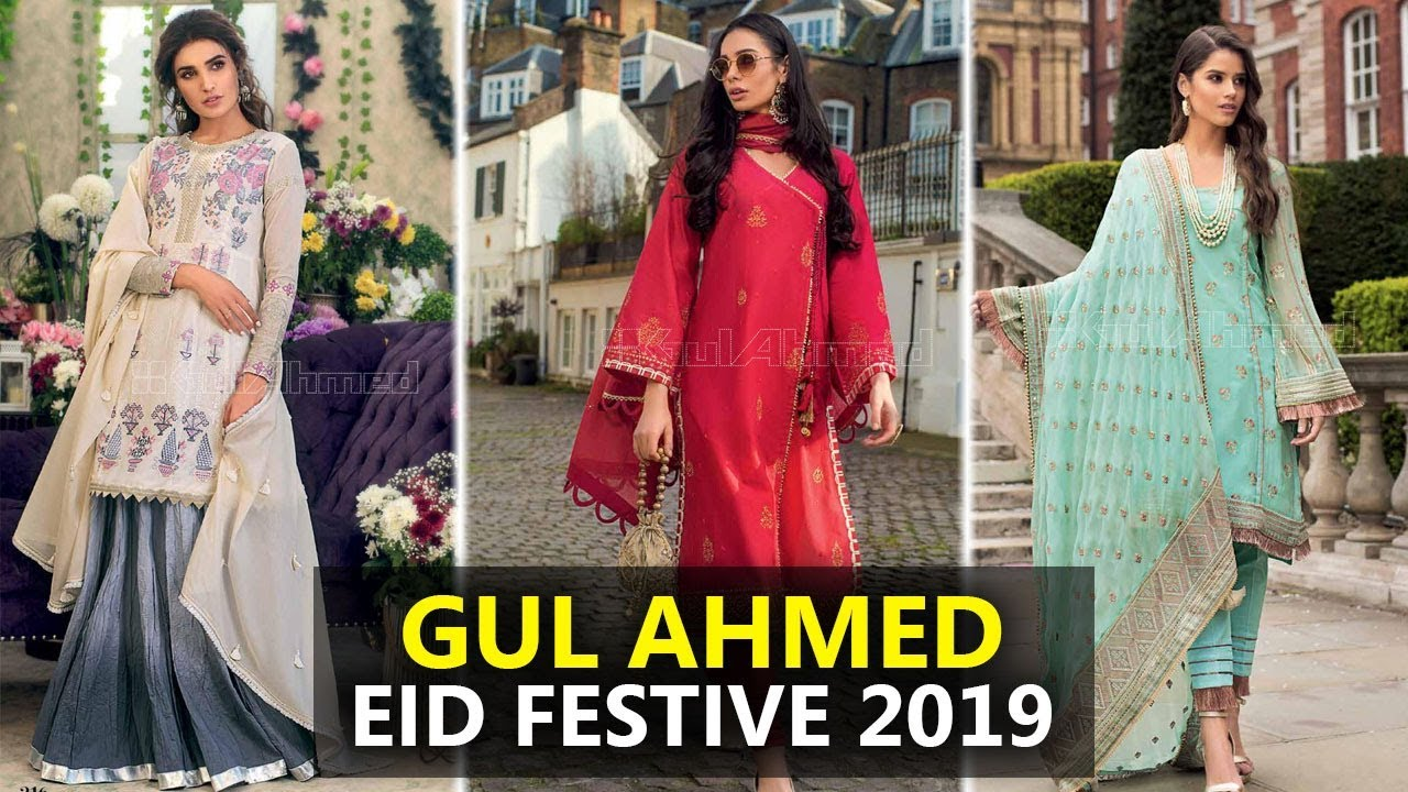 d390083161 Gul Ahmed Eid Festive Collection 2019 - Sara Clothes Try on Haul ...