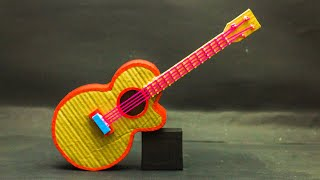 School Projects | How to make a guitar with cardboard