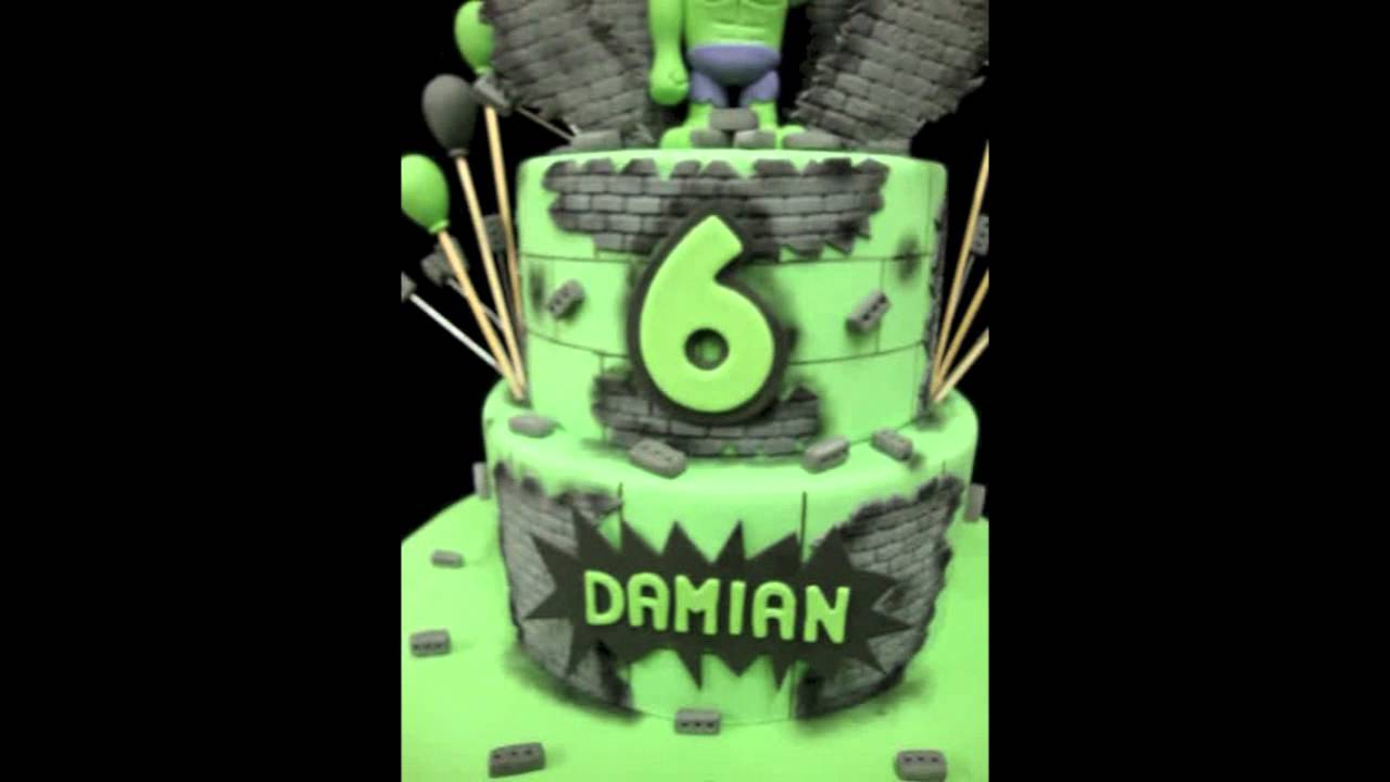 Incredible Hulk Birthday Cake YouTube