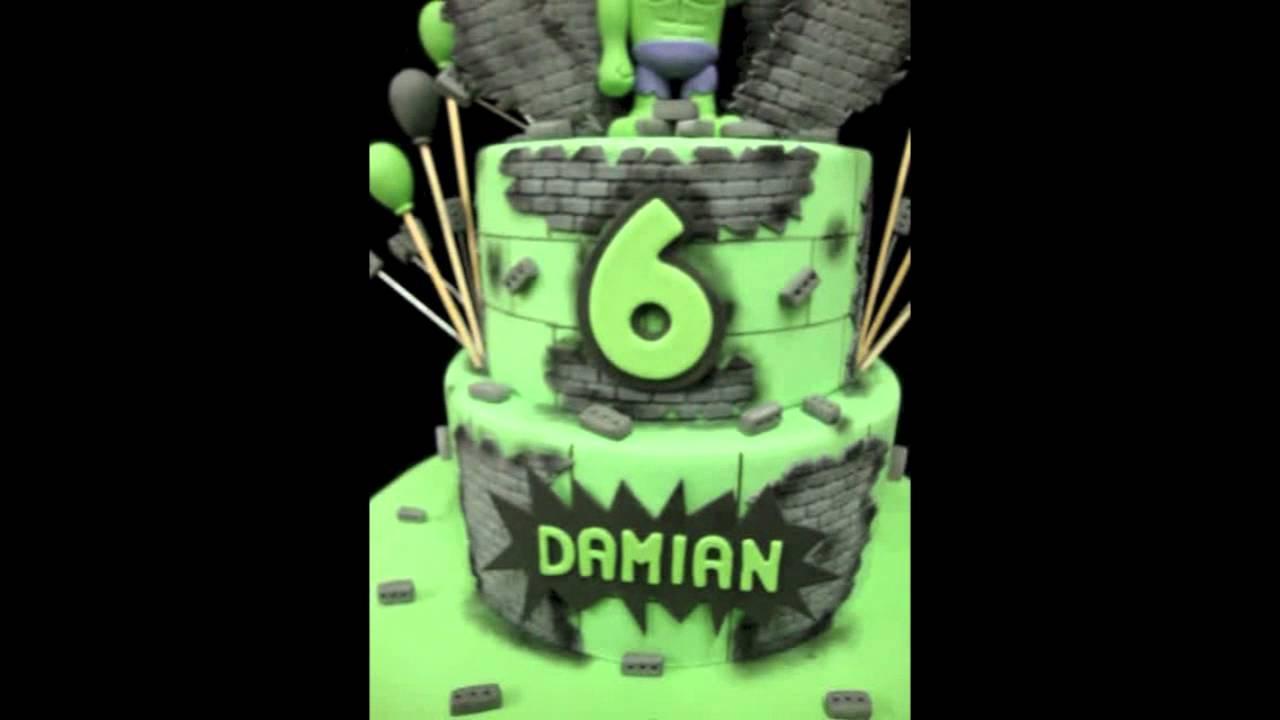 Incredible Hulk Birthday Cake Youtube
