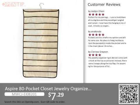 Aspire 80 Pockets Closet Jewelry Organizer from Opentip.com