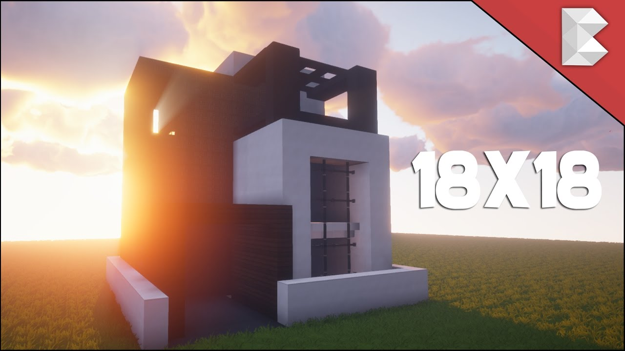 Minecraft 18X18 Modern House Tutorial Best Small Modern House