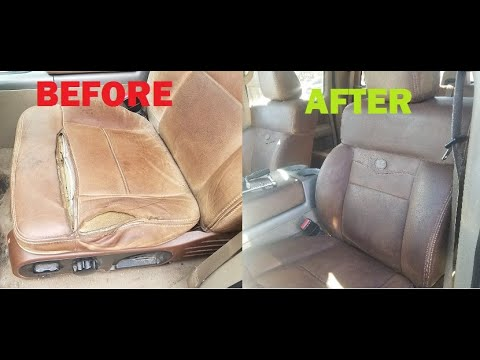 King Ranch Leather Seat Restoration