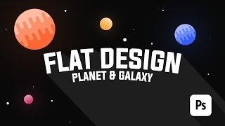 Membuat Galaxy & Planet FLAT DESIGN dengan Photoshop