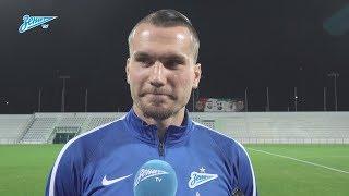 Антон Заболотный на «Зенит-ТВ»: «Кульбиты? Ноги пока ещё не в том состоянии, так что пока рано»