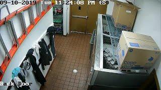 Pizza Ranch surveillance video as tornado hits