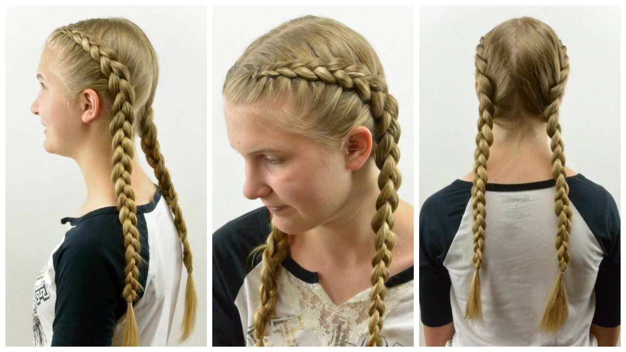 Tight Dutch Braids On Yourself Babesinhairland Com Youtube
