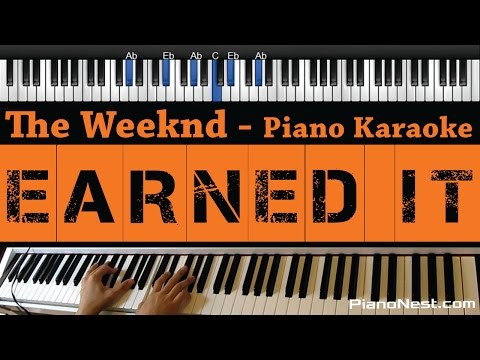 The Weeknd - Earned It (Fifty Shades Of Grey) Piano Karaoke / Sing Along / Cover with Lyrics