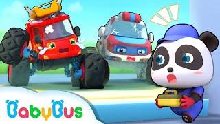 救急車が動かないよ!❤修理屋さんごっこ | のりものの歌&人気動画まとめ 連続再生 | 赤ちゃんが喜ぶアニメ | 動画 | BabyBus thumbnail