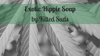 Making Exotic Hippie Soap | Hemp Seed Soap | Drop Swirl Soap | Cold Process Soap by Kilted Suds