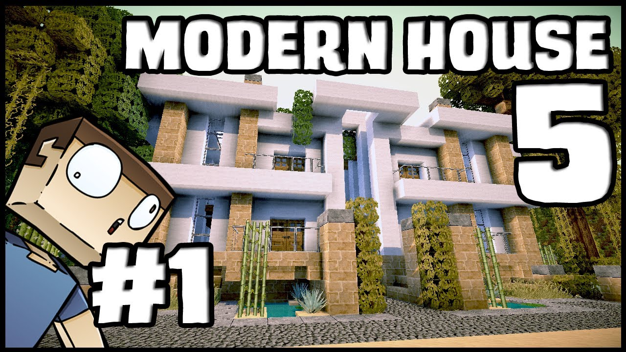 Minecraft Lets Build Modern House 5 Part 1 YouTube