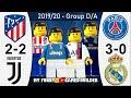 Atletico Madrid vs Juventus 2-2 • PSG vs Real Madrid 3-0 • Champions League All Goals Lego Football