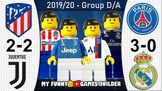 Atletico Madrid vs Juventus 2-2 • PSG vs Real Madrid 3-0 • Champions League All Goals Lego Football