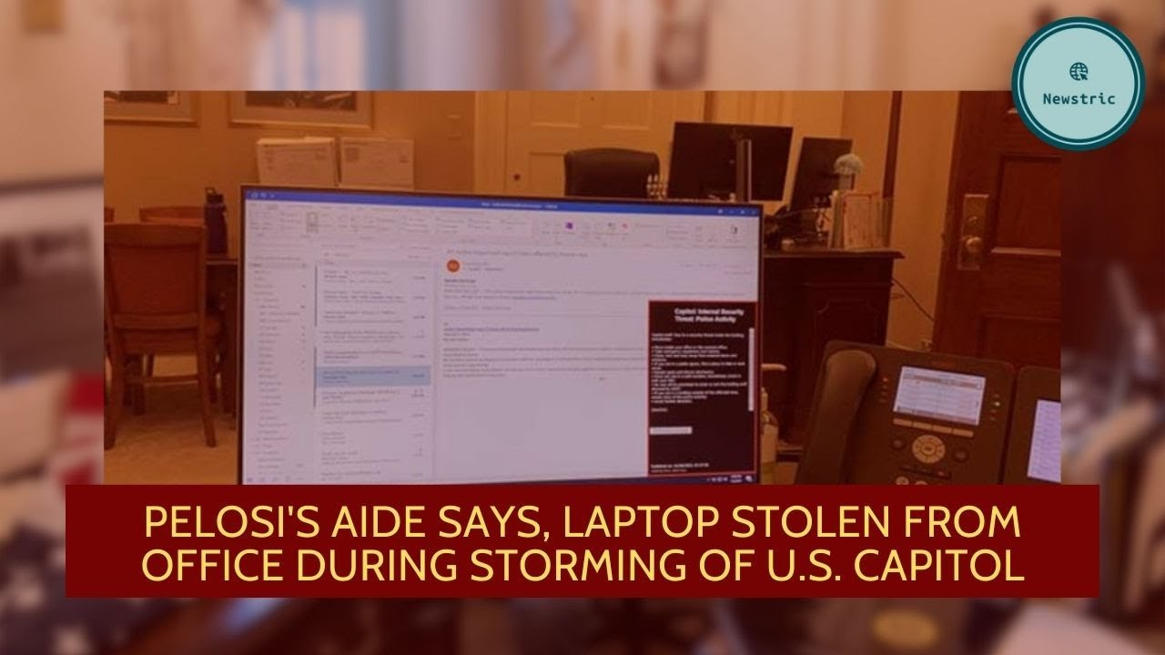 Pelosi's aide says, Laptop stolen from office during storming of U.S.  Capitol - YouTube
