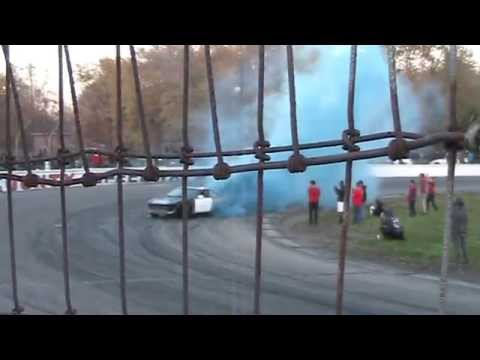 Blue Burnout Lake County Speedway Oct. 25th 2014