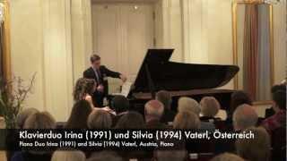 Johannes Brahms: Ungarischer Tanz Nr 11, Klavierduo Irina und Silvia Vaterl