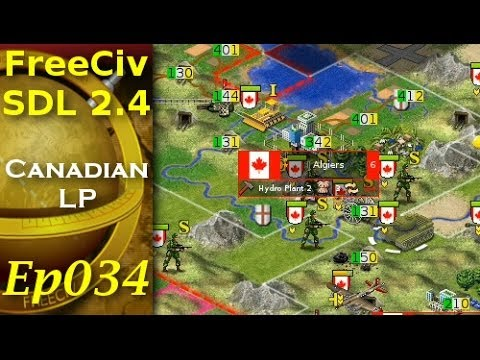 FreeCiv 2.4.0 [SDL Client] Canadian LP - Ep034