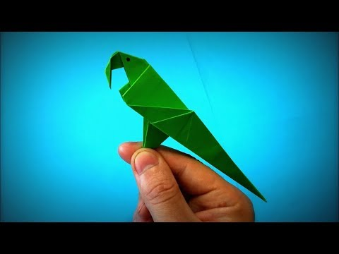 How to Make a Paper Parrot (Paper Bird) DIY - Easy Origami Step by Step