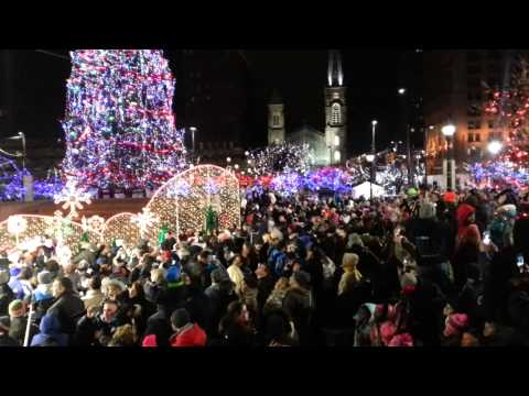 2013 Cleveland Christmas lighting of public square