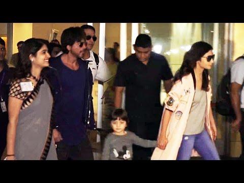 Shahrukh Khan's Son AbRam WALKS OUT With Alia Bhatt At Mumbai Airport