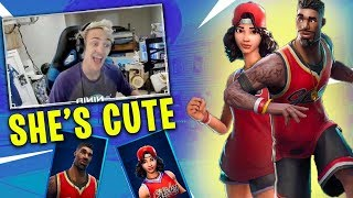 Streamers reacts to *NEW* Jumpshot & Triple Threat Skin ● Fortnite Battle Royale Moments
