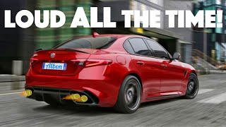 Alfa Romeo Giulia QV Race-Mode Exhaust Mod! (Giulia Quadrifoglio)