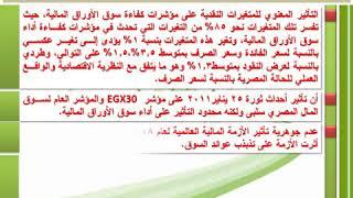 عرض ملخص رسالة د/ عصام أحمد البدري عبد العظيم