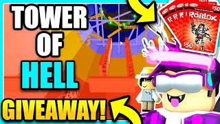 🔴TOWER OF HELL LIVE | ROBUX GIVEAWAY! | PARKOUR GAMES! [ROBLOX TOWER OF HELL, OBBY'S, ETC.]