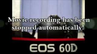 PROBLEM SOLVED - Movie recording has been stopped automatically