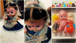 DIY baby doll into bridal doll # radha