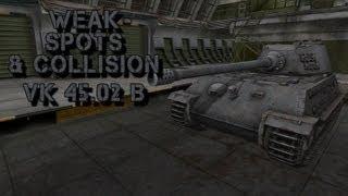 world of tanks weak spots collision vk 45 02 b hd